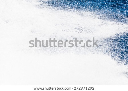 splashing sea water