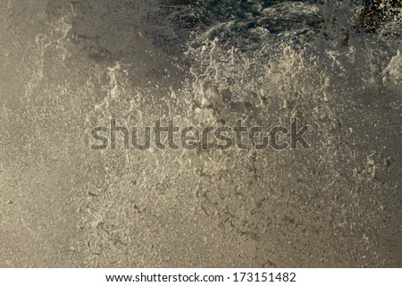 splashing wave - stock photo