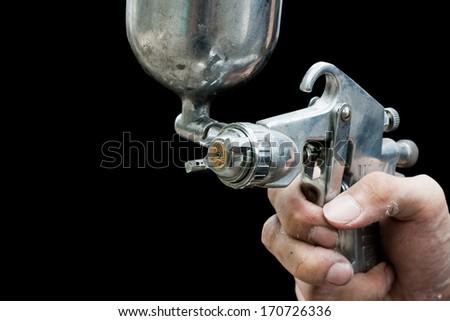 splay gun painting - stock photo
