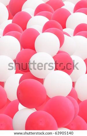 splendid balloons cloud - stock photo