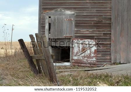 split barn door - stock photo