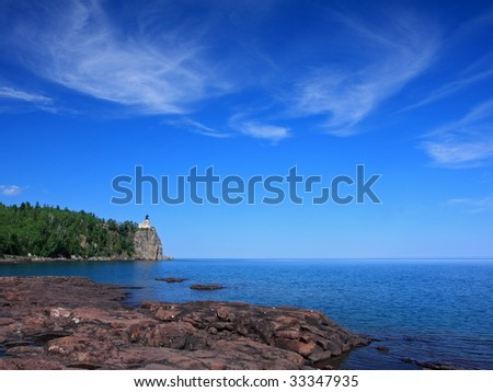 Split Rock state park on the north shore of lake Superior - stock photo