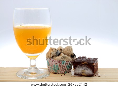 spoiled food and drink - stock photo