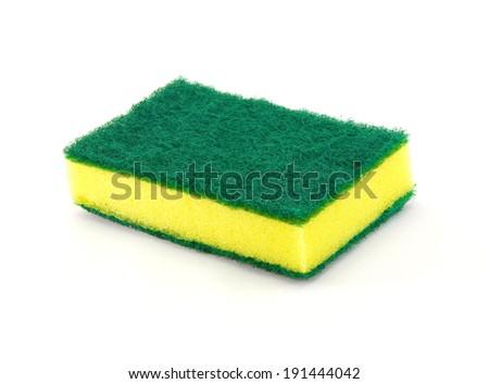 sponge for household cleaning - stock photo