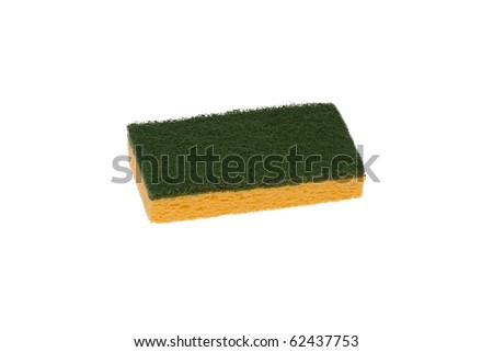 Sponge isolated - stock photo