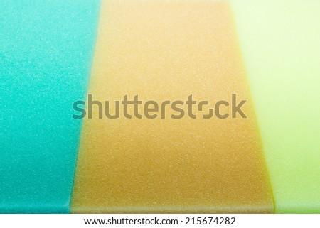 Sponge isolated against white background  - stock photo