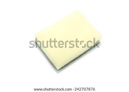 Sponge on white background - stock photo