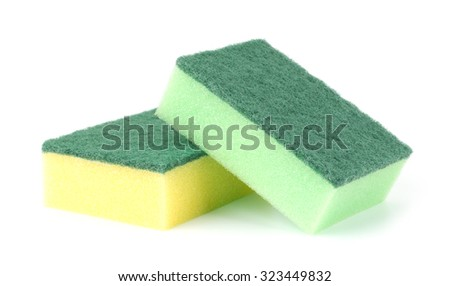 Sponges isolated on the white background - stock photo