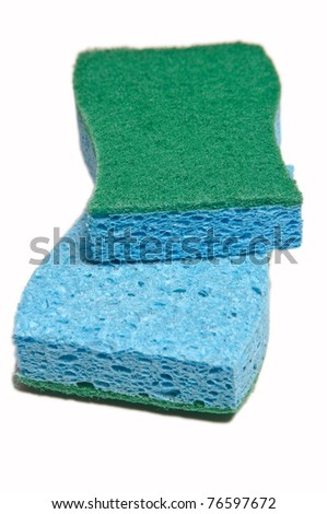 Sponges isolated on white background - stock photo