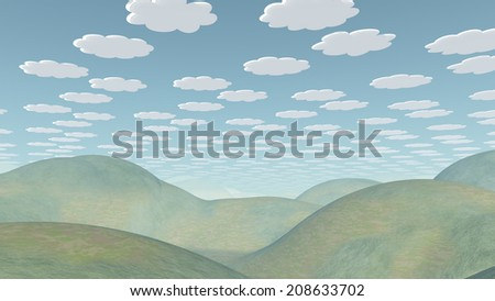 Spookily Serene Landscape - stock photo