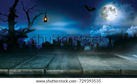 spooky halloween background empty wooden planks stock photo edit