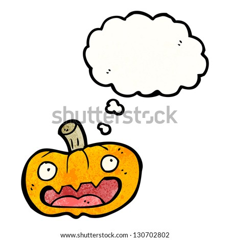 spooky halloween pumpkin cartoon