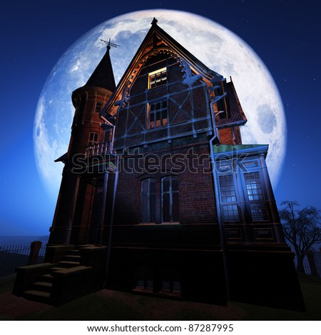 Spooky House - stock photo