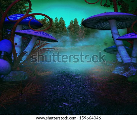 Spooky Land Background - stock photo