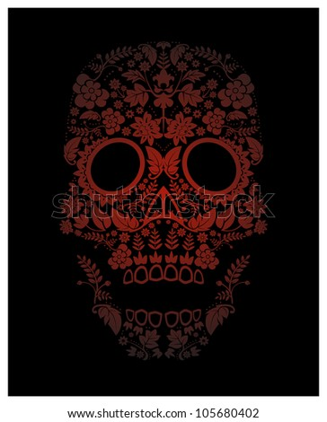 spooky skull pattern backdrop