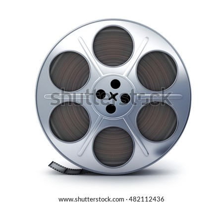 Spool film view front symbol (done in 3d rendering)