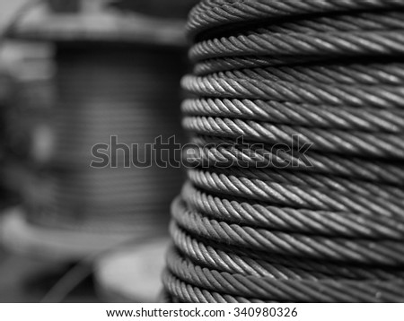 Spool of metal cable
