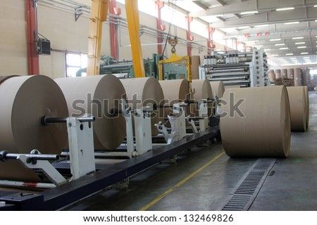Spools of paper - stock photo