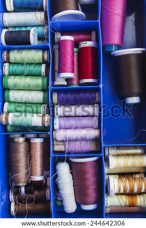Spools of sewing - stock photo