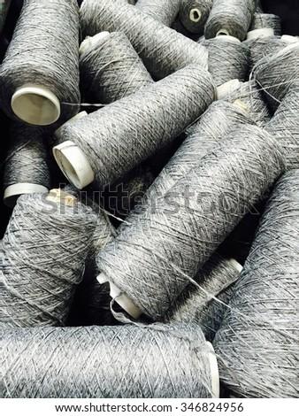 Spools of thread - stock photo