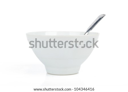Spoon and bowl - stock photo