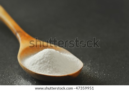 Spoonful of bicarbonate - stock photo