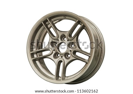 Sport alloy rims isolated on a white background