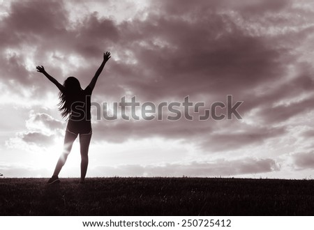 Sport and life achievements and success concept - stock photo