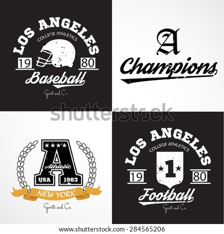Sport Athletic Graphics and typography t-shirt design for apparel - stock photo
