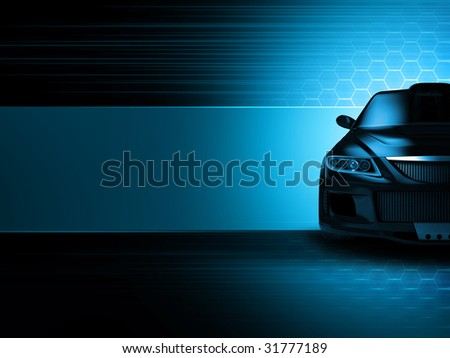 Sport car background - stock photo