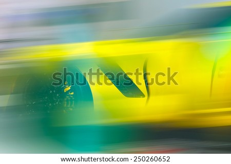 Sport car in the motion  - stock photo