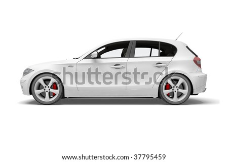 Sport car made in 3d - stock photo