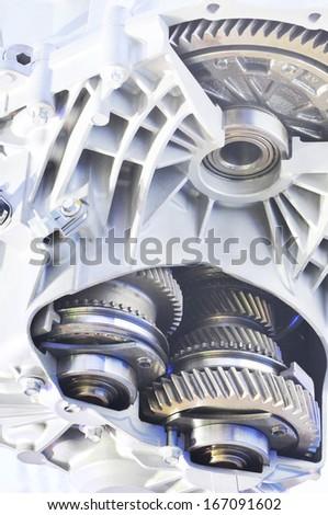 Sport car's engine  - stock photo
