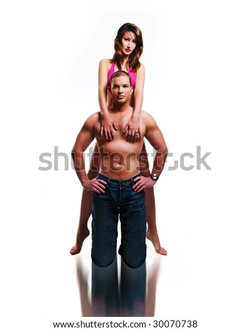 sport couple /sexy couple - stock photo