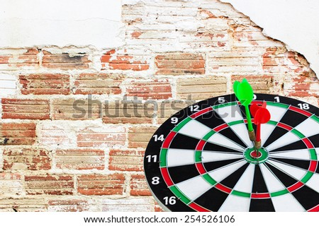 Sport Dart go to target and success on background