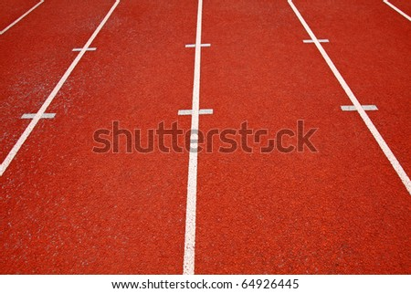 Sport field lines - stock photo