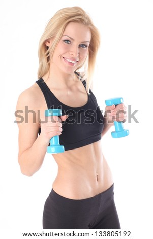 Sport fitness woman - stock photo