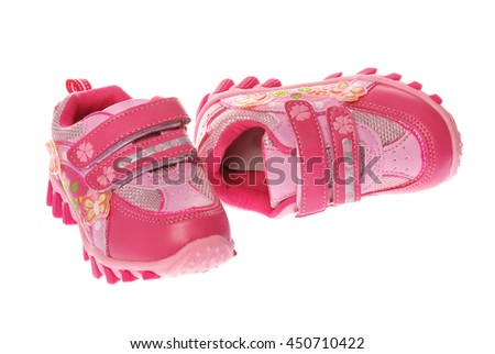 Sport girl shoes isolated on white
