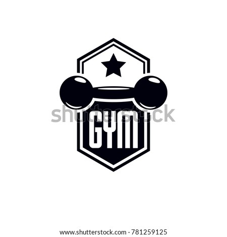 sport logo weightlifting gym fitness club stock illustration rh shutterstock com weightlifting logs software weightlifting logs software