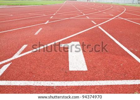 sport running track - stock photo