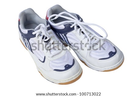 Sport shoe for running on white background