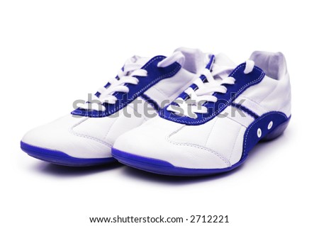 Sport shoe isolated on the white background - stock photo
