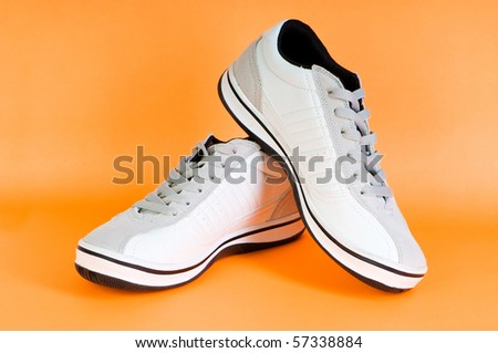 Sport shoes isolated on the white background - stock photo
