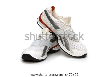 Sport shoes isolated on the white background - more similar photos in my portfolio - stock photo