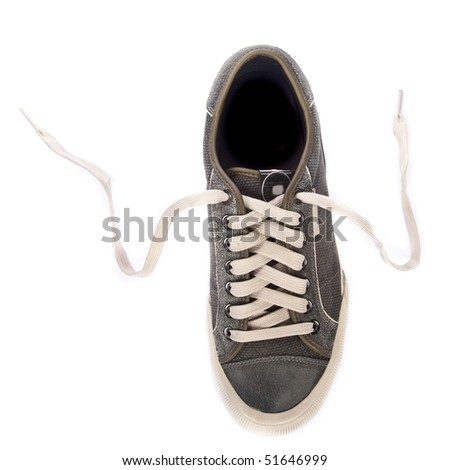Sport shoes. Isolated on white. - stock photo