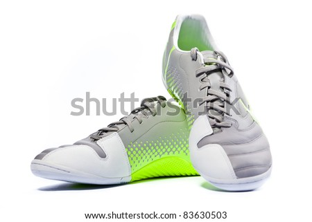 Sport shoes isoltead on white. Close up. - stock photo