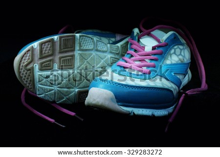 Sport Shoes on black background