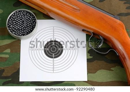 Sport shooting equipment - stock photo