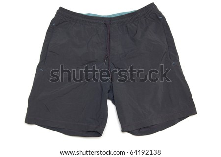 sport shorts isolated on white - stock photo