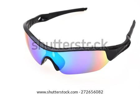 Sport sunglasses on white background - stock photo